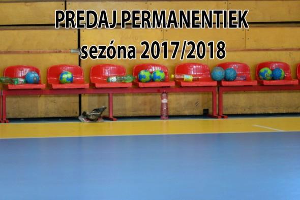 Predaj permanentiek sezóna 2017/2018